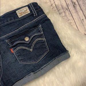 Levi's Shorty Short Jean Shorts 9